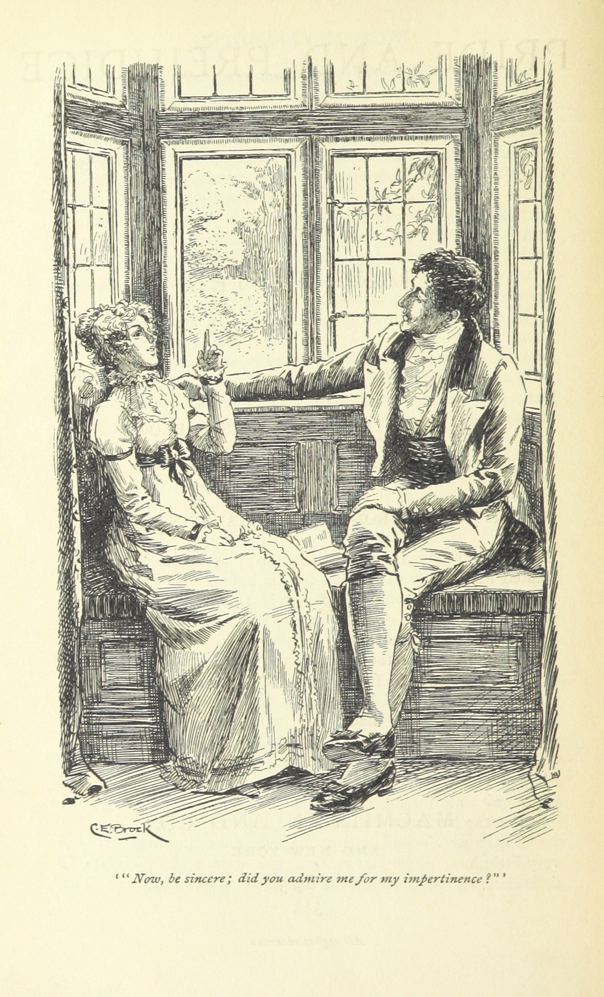 Pride and Prejudice, illustr. by C.E.Brock: Be sincere