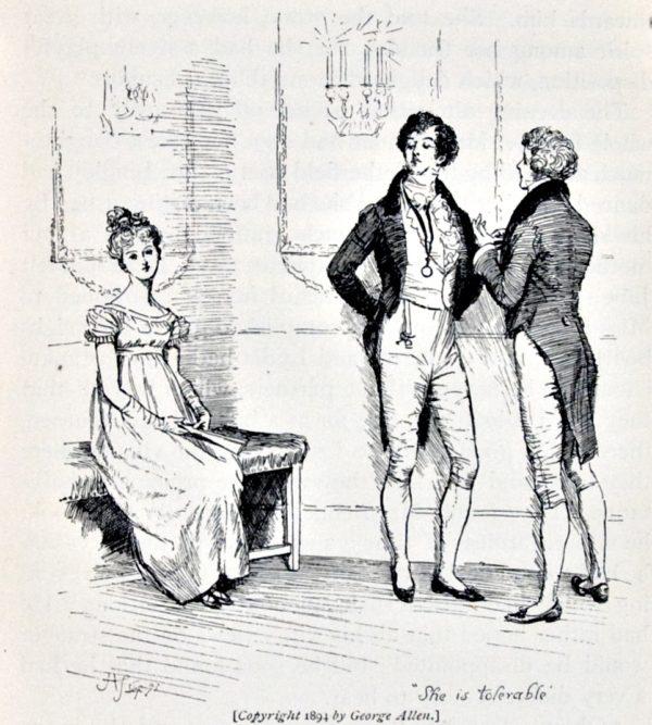 Pride and Prejudice, illustr. by H. Thomson: She is tolerable